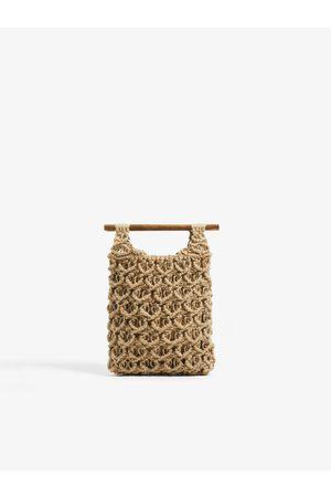 Zara Shopper en jute avec poignées en bois