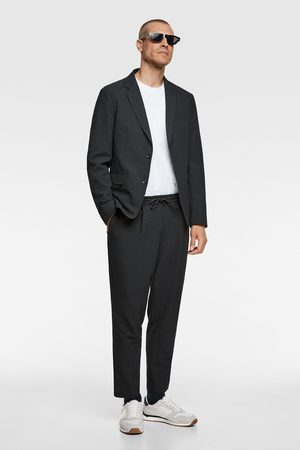 Zara Pantalon de jogging en seersucker