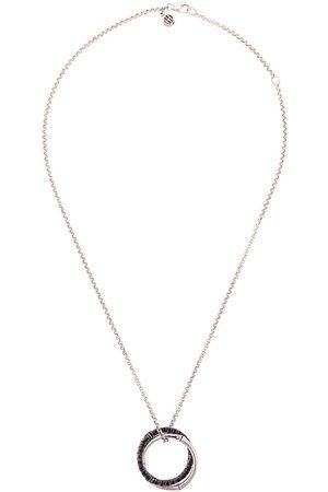 John Hardy Bamboo Lava medium interlink sapphire pendant necklace
