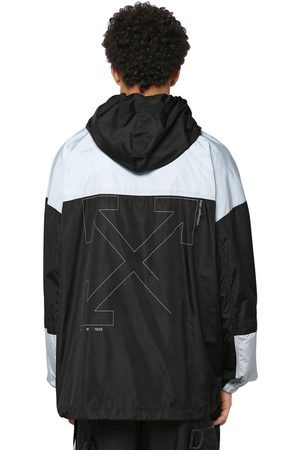 OFF WHITE Unfinished Print Techno Windbreaker