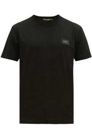 Dolce & Gabbana Homme T-shirts - T-shirt en jersey de coton à empiècement logo