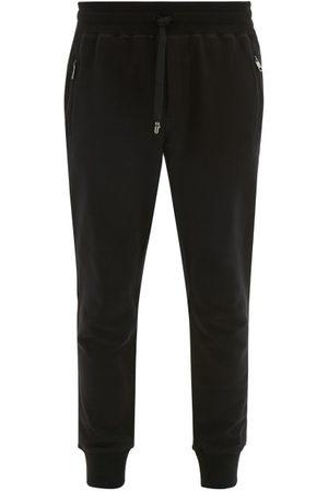 Dolce & Gabbana Pantalon de jogging en coton à ourlets resserrés