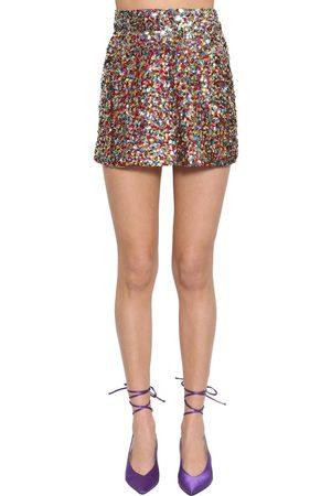 19409a98e04c8 Jupe En Sequins Multicolores Taille Haute