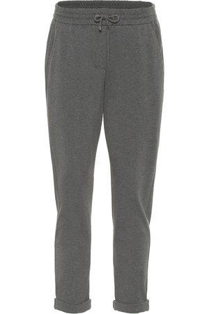 Brunello Cucinelli Pantalon de survêtement en coton stretch
