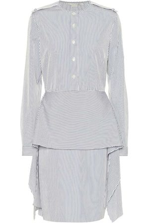 Stella McCartney Robe chemise rayée en coton