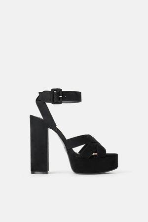 Zara Femme Sandales - Sandales à talon large et compensé
