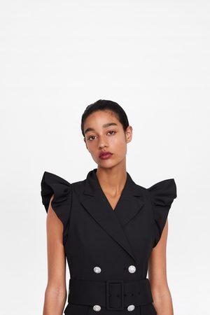 Zara Femme Robes - Robe style gilet à volant