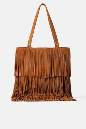 Zara Femme Cabas - Sac shopper avec franges