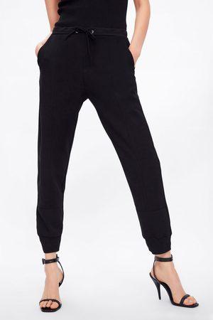 Zara Pantalon de jogging en matières variées