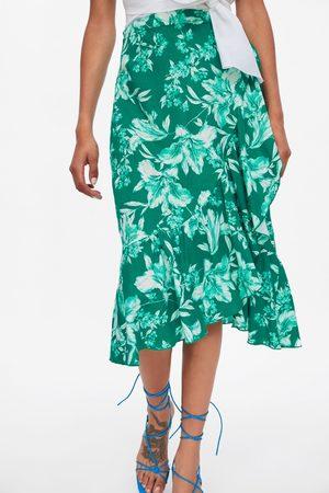 Zara Jupe brute à imprimé floral