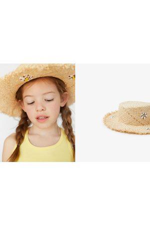 Zara Chapeau de paille à fleurs