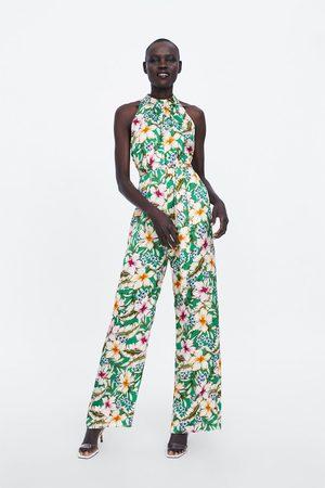 Zara Combinaison à encolure américaine et imprimé fleuri