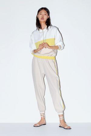Zara Pantalon de jogging à bandes latérales