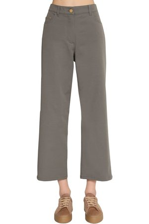 Max Mara Pantalon Droit En Toile De Coton