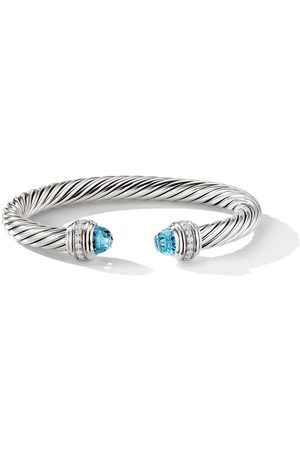 David Yurman Cable topaz and diamond cuff