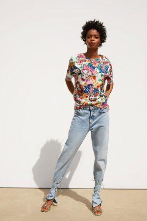 Zara T-shirt sans manches imprimé
