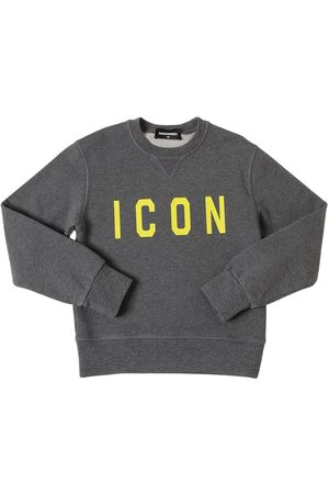 "Dsquared2 Sweat-shirt En Coton Imprimé ""icon"""