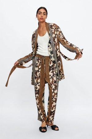Zara Pantalon imprimé bimatière
