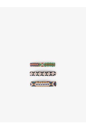 Zara Lot trois bracelets en fil tressé