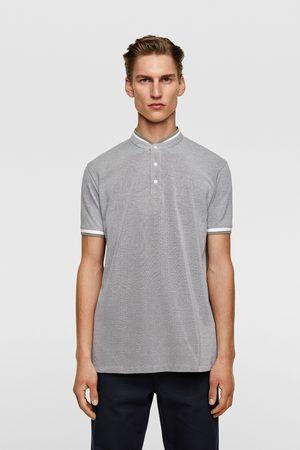 Zara Homme Polos - Polo en piqué à col mao