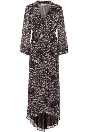 Ganni Robe portefeuille imprimée en georgette