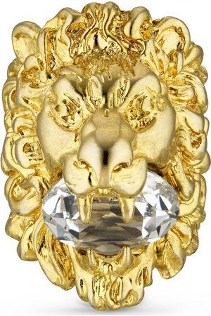 Gucci Bague tête de lion avec cristal