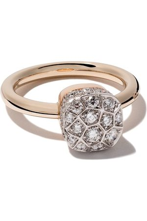 Pomellato 18kt rose and gold Nudo Solitaire diamond ring