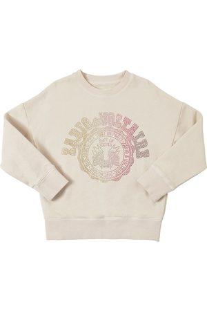 Zadig & Voltaire Fille Sweatshirts - Sweat-shirt En Coton Embelli