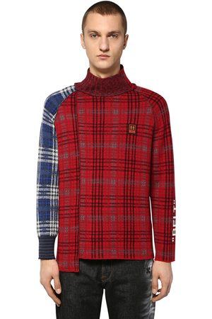 OFF-WHITE Homme Pulls en maille - Check Wool Blend Knit Sweater