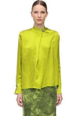 MARQUES'ALMEIDA Femme Chemisiers - Satin Shirt W/ Buckle Collar