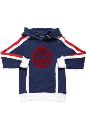 Balmain Sweat-shirt En Coton À Capuche Logo Floqué