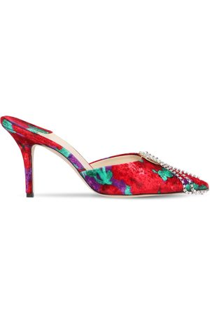 MAGDA BUTRYM 65mm France Embellished Velvet Mules