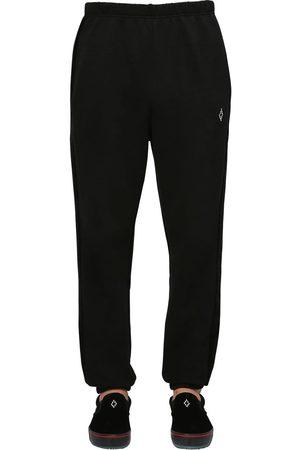 MARCELO BURLON Pantalon En Jersey Et Velours De Coton