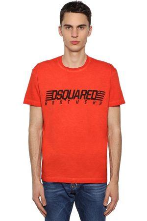 Dsquared2 T-shirt En Jersey De Coton Imprimé