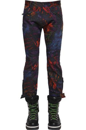 Dsquared2 Pantalon Biker En Coton Imprimé Tie Dye