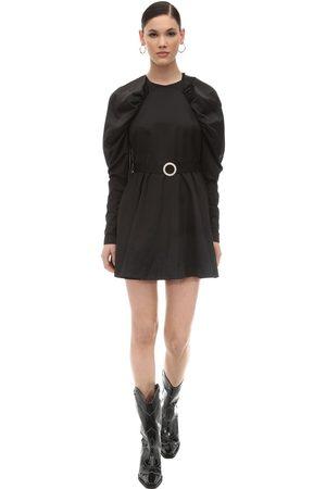 ROTATE Techno Satin Mini Dress