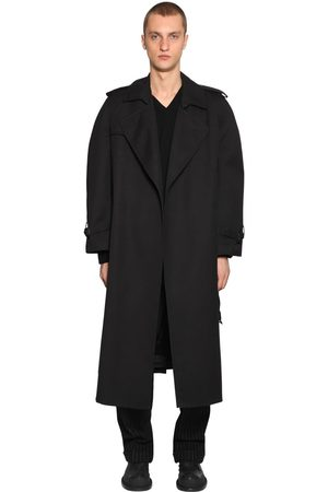 Maison Margiela Homme Manteaux - Oversized Cotton Gabardine Trench Coat