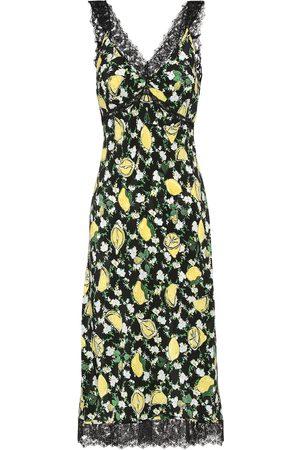 Diane von Furstenberg Robe midi Issey imprimé en soie