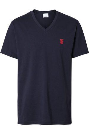 Burberry T-shirt à col v et logo poitrine