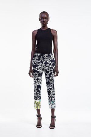 Zara Pantalon chino imprimé