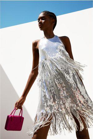 Zara Robe à paillettes avec franges édition limitée