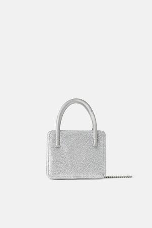 Zara Mini sac bandoulière à paillettes blue collection