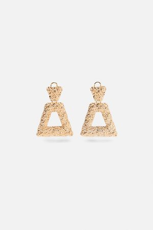 Zara Boucles d'oreilles texturées géométriques