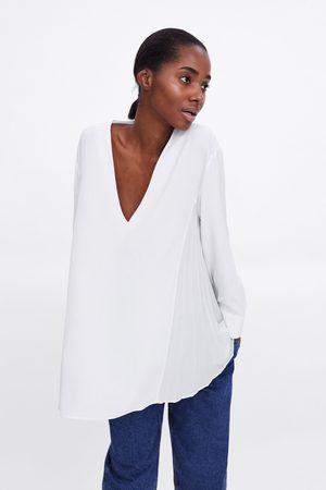 Zara Blouse plissée sur les côtés