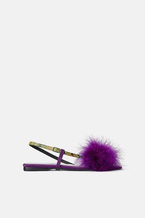 Zara Femme Comparez Achetez Chaussures Violette Et SqUGMzVp