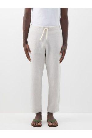 MARANÉ Pantalon en lin à cordon coulissant