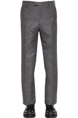 Prada Pantalon En Laine Taille Haute 24 Cm