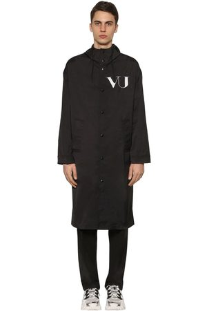 Valentino Vu Long Printed Nylon Coat