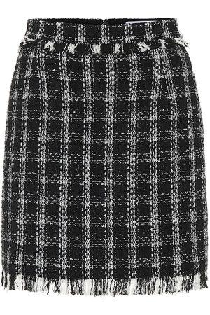 Msgm Mini-jupe en tweed de coton mélangé