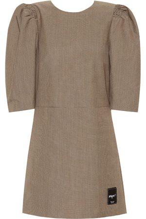 Msgm Robe en laine mélangée à carreaux